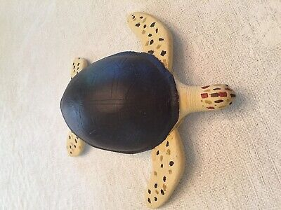 Wood Hand Carved and Hand Painted Turtle
