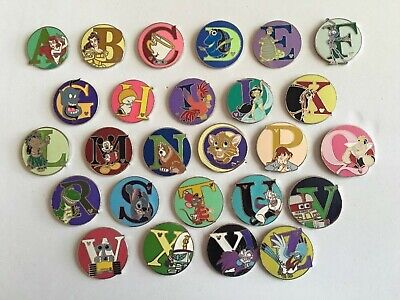 Disney World Complete  Alphabet Pin Set From U.s.a. Seller Not Chinese Shipping!
