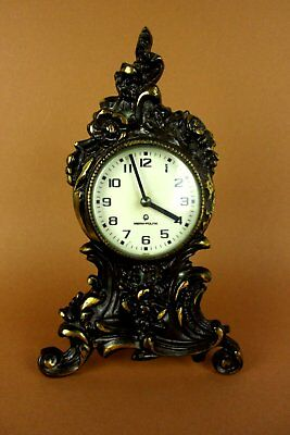 Old Fireplace Clock Buffet Mera Poltik Brass Type Art Nouveau Junghans