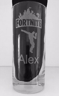 """Laser Engraved Personalised """"Fortnite"""" Hi-Ball Glass - Ideal Present For Any Fan"""