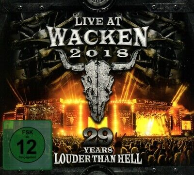 Live At Wacken 2018:29 Years Louder Than Hell Digipak 3 Cd+Dvd New