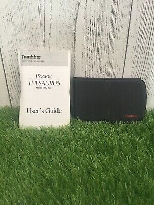 Franklin Pocket Thesaurus TMQ -100 With Instructions