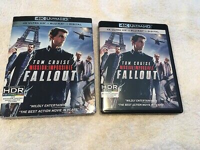 Mission: Impossible Fallout (4K Ultra HD Blu-ray Disc, 2018) No Scratches