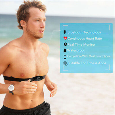 Heart Beat Monitor Blue-tooth Wireless Adjustable Chest Strap for Android or IOS