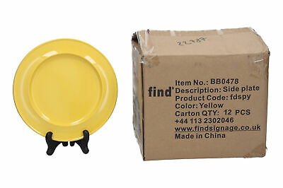 12 x Find Memory Care yellow melamine side plates Dementia care