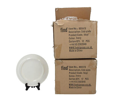 22 x Find Memory Care white/ ivory melamine side plates Dementia care