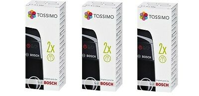 3x Bosch Tassimo Descaling Tablets TCZ6004 - 00311530 (4x18g),Replaces 311578