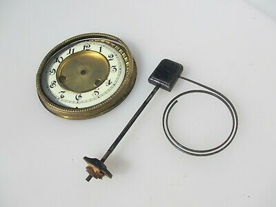 "Victorian Brass Mantle Clock Face Antique Vintage Parts / project / art 6""W"