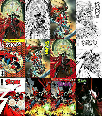 (2019) Todd McFarlane SPAWN #300 A-Q! 1:25 1:50 Variant Cover! Set of 17!