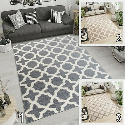 New Moroccan Trellis Soft Rugs Living Room Bedroom Geometric Pattern S -XL Rug