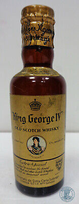 Miniature / Mignon Scotch Whisky KING GEORGE IV con Clip