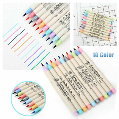 10Pc Drawing Write Marker Brush Pen Chinese Drawing Art Colorful Calligraphy Set