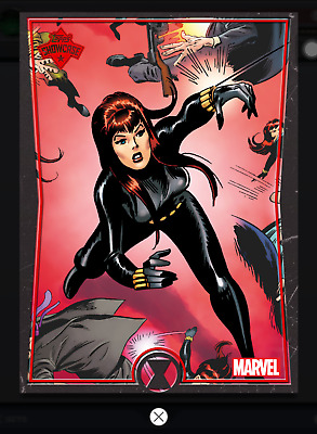 Topps MARVEL COLLECT DIGITAL Card Trader SHOWCASE BLACK WIDOW #6