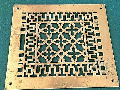 Vintage AAB Anglo American Brass Co.Ornate Heat Register Wall Floor Grate Vent