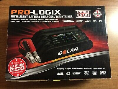 Solar (SOLPL2140) Pro-Logix 6/12V 4.0 Amp Intelligent Battery Charger