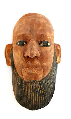 Rare Egyptian Antique Head Mask Statue Figurine Ancient Mummy Faience Amulet