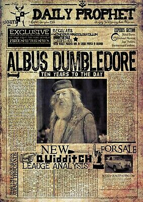 HARRY POTTER Daily Prophet WANTED POSTER d - VARIOUS SIZES & FRAMED OPTION