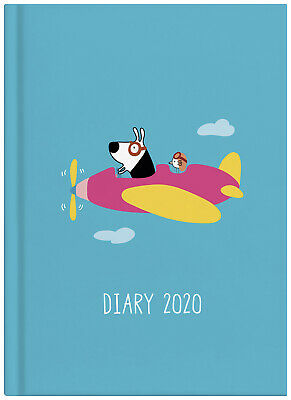 2020 Milford Dog & Bird Diary A5 Day to Page Blue 441603