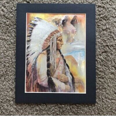 Native American Indian Chief Sitting Bull 3D Art Print Picture Lithograph 8x10