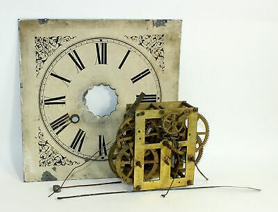 ANTIQUE OG TIME AND STRIKE CLOCK MOVEMENT w/DIAL - MX167