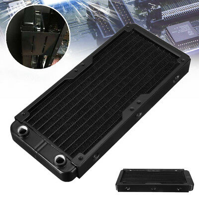 240mm 10 Tubes Aluminum Computer Radiator Water Cooling Cooler For CPU ❤