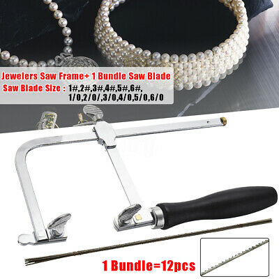 Adjustable Hand Saw Frame +12 Sizes Saw Blades for Wood/Jewelry Cutting