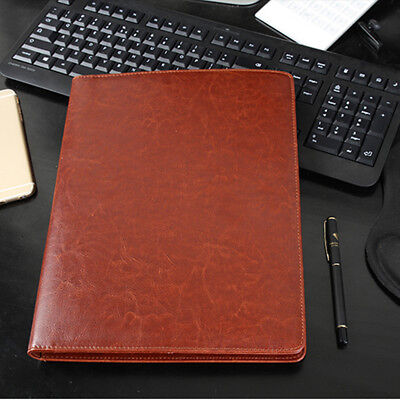 PU Leather Document Organiser A4 Business Conference Portfolio Folder  AU ❤