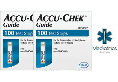Accu Chek Guide Test Strips (200 Tests in 2 Boxes)