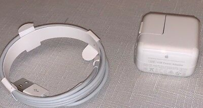 NEW Genuine Apple 12w Charger for all iPads & suited AND 3 feet Lightning cable