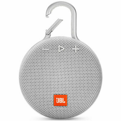 NEW JBL Clip 3 Rechargeable Waterproof Portable Bluetooth Speaker White ORIGINAL