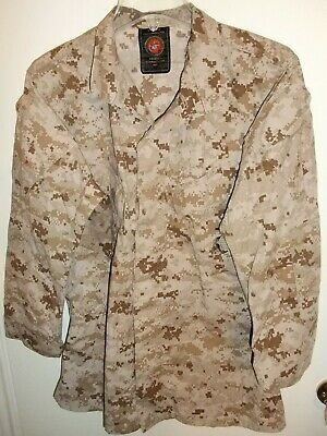 USMC US Marine Corps Desert MARPAT Digital Camo MCCUU Jacket Small Regular S/R