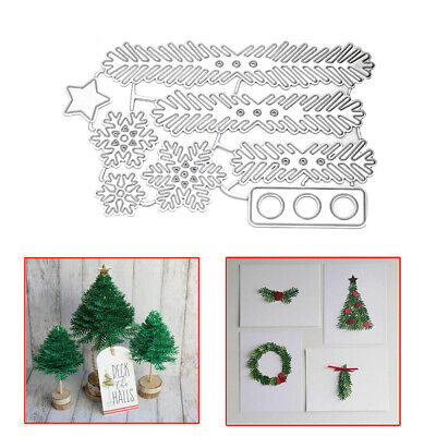 Christmas Tree Leave Pine Metal Cutting Die Stencil Xmas Scrapbooking Decoration