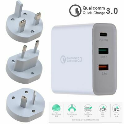 18W Type-C USB-C QC3.0 PD Phone Fast Charging Wall Charger Power Adapter AU