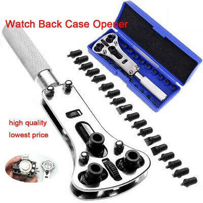 Watch Band Back Case Opener Fixer Repair Tool Kit Battery Screw Cover Remover GQ