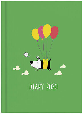 2020 Milford Dog & Bird Diary A5 Week to View Green 441604