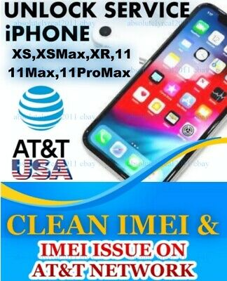 UNLOCK SERVICE USA AT&T  IPhone 5S 6 6s + 7 PLUS 8 X IMEI ISSUE ON ATT NETWORK