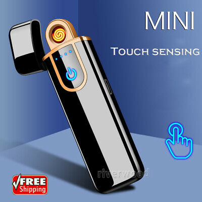 Windproof Electric Cigarette Lighter Touch Sensitive USB Rechargeable Flameless