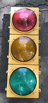 "Retired Aluminum 12"" LEDS Traffic Signal / Red / Stop Light - NO Hoods / Visors"