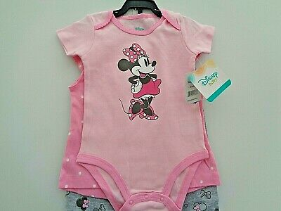 BNWT Disney Minnie Mouse baby girls 3 piece outfit