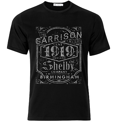 PEAKY BLINDERS shelby brothers Garrison Tavern black T-Shirt/TOP MENS  CLOTHING
