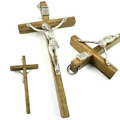 """SMALL WOOD CRUCIFIX WALL CROSS 4.7"""" JESUS CHRIST Hanging Religious Christian NEW"""