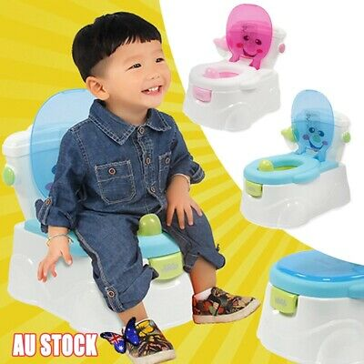 Baby Toddler Toilet Trainer Safety Potty Training Seat Blue Pink