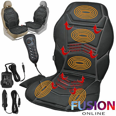 Car Seat Heated Massager Back Massage Chair Remote Control Home Van Cushion