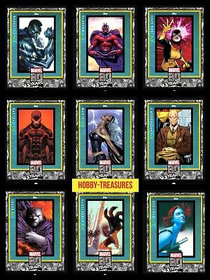 Topps MARVEL COLLECT DIGITAL Card 80 YEARS Wave 8 X-MEN Complete Set of 9 Card