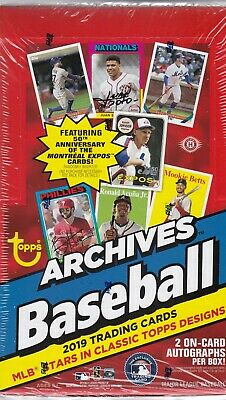 2019 Topps Archives Hobby Box Factory Sealed 2 Autos