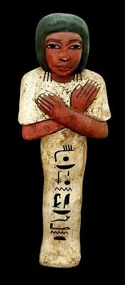 Giant Ushabti Wooden Sculpture Ancient Egypt Antiquity Shabti W/T Hieroglyphics