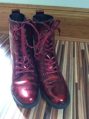 Girls Boutique UMi Red Patent Boots Winter boots Size 38 EU