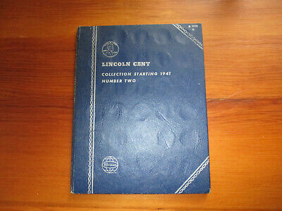 60 Diff. 1941-1970 Lincoln Wheat & Memorial Cents +1943 Steel Cent-Whitman Book