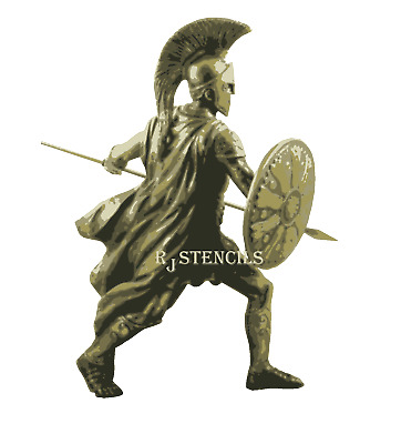 Multilayer step by step airbrush stencil gLADIATOR 2