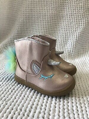 Cat /& Jack Toddler Girls Leticia Metallic Pink Unicorn Ankle Boots